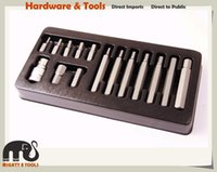 Wholesale Wrench Case - 15pc 4-12mm 1 2in Drive Hex Allen Key Wrench Hex Socket Bits Set Metric Socket Set