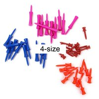 Wholesale 40Pcs Mixed Colors size Plastic Step Golf Tees Training Accessories