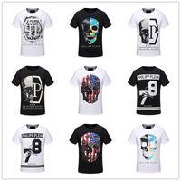 Wholesale Designer Fashion Tshirts - Hot sale Skull pp brand tshirts for men Summer Fashion Short Sleeve 100% Cotton poloshirt shirt men Hip pop Mens designer t shirts