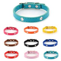 Wholesale flower leather dog collar online - Pet Supplies Necklet Suitable For Small Medium Large Dog Collar DIY Flower Bow Bell Necklace Colorful Collars Band Metal yb H