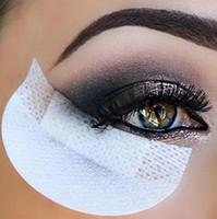 augenaufkleber augenschminke großhandel-Neue Mode Einweg Lidschatten Pads Schönheit Bilden Werkzeuge Augengel Makeup Shield Pad Schutz Aufkleber Wimpernverlängerung Patch