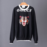 Wholesale Cat Sweater Xl - Free shipping 2017 new high quality pullover men men sweaters Brand Angry cat sweater Jumpers pullover jerseys men O-Neck size M-XXXL