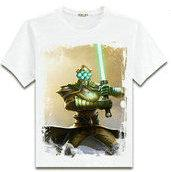 Wholesale Master Yi - Master Yi T shirt The Wuju Bladesman short sleeve League of Legends printing tees Lol Game clothing Men cotton Tshirt