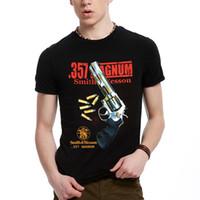 Wholesale Wholesale Handguns - 2017 Fashion streetwear handgun Print men's 3d gun t-shirt black short sleeve clothes t shirt o neck loose fit Tops tshirt BMTX32 F