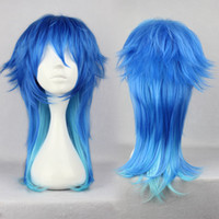 Wholesale Dramatical Murder Wig - MCOSER Classical Dramatical Murder Dmmd Seragakiaoba 60cm Long Synthetic Bright Cosplay Party Wig Free Shipping