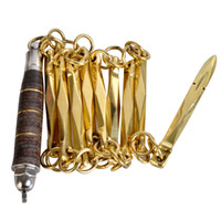 Wholesale Copper Sections - New Copper nine-section whips octagon martial arts performance combat whip wushu leather whip Anti-slip handle chain-whip retails wholesale