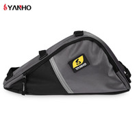 Wholesale Front Bike Shocks - Yanho Water Resistant Bicycle Triangle Bag Frame Front Tube Oxford Fabric Cycling Bike Zipper Pack With Shock-Absorbing Sponge +B