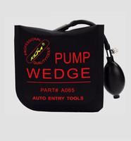 Wholesale Pdr Tool Sets - KLOM pump wedge automatic air bag driving door lock opener black S M L U 4p lot PDR car repair tool locksmith supplies