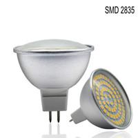 Wholesale Spot Luz - 2835 Chip Aluminum Spot Light MR16 220V 110V Lampada LED Spotlight GU10 48 60 80LED Lampada LED Lamp Luz Ampoule LED Bulb Candle Tube