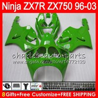1998 Kawasaki Zx7r Carenados Verde Baratos-8Gifts 23Colors Para KAWASAKI NINJA ZX7R 96 97 98 99 00 01 02 03 ALL verde 18NO61 ZX750 ZX 7R ZX-7R 1996 1997 1998 2001 2002 2003 Carenado