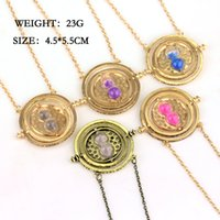 Wholesale Sweater For Women Sale - Wholesale-Hot Sale 5 Colors Hourglass Time Turner Pendant Necklace Hermione Granger Rotating Spins Sweater Chain For Women And Men