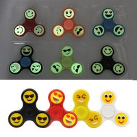 Glow Emoji Fidget Spinners Triangle Design Spinners à la main EDC Toys For Demompression Anxiety <b>Stainless Steel Spinning Top</b> L1983