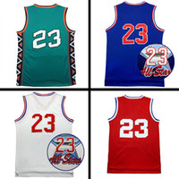 Wholesale Mixed Basketball Jersey - 1991,1992,1996,2003 All star Jersey # 23 Men's basketball Jersey, Cheap Sale wholesale men sports basketball jerseys Size: S-XXL Mix order