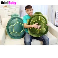 Wholesale Green Turtle Pillow - OHMETOY Sea Turtle Plush Toys Baby Doll Tortoise Sofa Cushions Cuckold Pillow Birthday Gift Valentine Day 25-58cm Blue Green