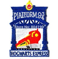 blue cross express - HARRY POTTER COLLECTIONS HOGWARTS EXPRESS KINGS CROSS PLATFORM PATCH Blue Emblem Embroidered Robe Iron On Patch retro applique