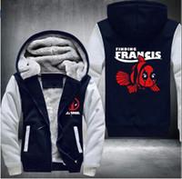 Wholesale Pool Coat - Fashion Marvel Hoodies mens Dead Pool Jacket Winter Warm Zipper Coat US EU Size Plus Size