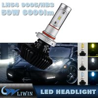 Wholesale H7 Halogen Blue - 1 Set H7 G7 LED Headlight Auto Super Slim Conversion Kit Single Beam Driving Fog Lamp Bulb 45W 5200LM Replace HID Xenon Halogen