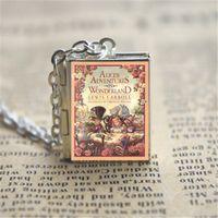Wholesale Vision Gifts - 12pcs Alice's Adventures in Wonderland book Locket Necklace, bronze tone VISION 71z1