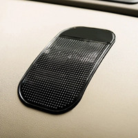 Wholesale Silicone Magic Mat - Black Car Silicone anti-skid Pad Powerful Silica Gel Magic Sticky Pad Cellphone Anti Slip Non Slip Mat for Mobile Phone