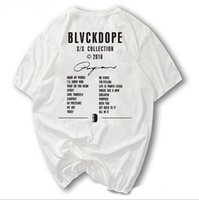 Wholesale Germany Clothes - BLVCKDOPE Germany Street Fashion BD Tee Kanye West season Men T-shirts Hiphop Heybig Swag clothing China Sizing Skateboard Tops