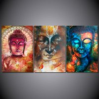 Wholesale Spray Paint Images - HD Printed Buddha image Portrait Art Painting Canvas wall art Print room decor print poster picture canvas Free shipping no frame