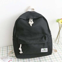 Wholesale Candy Color Vintage Backpack - Wholesale- Vintage Canvas Backpack Zipper Tether Man Woman Solid Candy Color Compartment Bag Students School Backpack 2016 Hot Sale