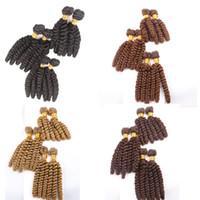 tissus synthétiques achat en gros de-Syntheitc Cheveux Trame Weave Vague Lâche 10 12 14 pouces Cheveux Humains Synthétiques Extensions De Fibre Synthétique 6pcs / set 200g