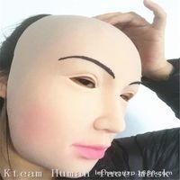 Wholesale Realistic Male Toys - Female mask latex silicone Ex Machina realistic human skin masks Halloween dance masquerade cosplay Crossdress Male Mask Lady toys