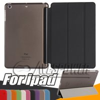 Wholesale Smart Cover Hard Back - For Apple Ipad Air2 Mini1 2 3 4 Magnetic Front Smart Case Skin+Hard PC Back Cover For New iPad Pro 10.5''