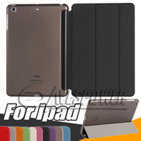 Wholesale apple ipad smart case online - For Apple Ipad Air2 Mini1 Magnetic Front Smart Case Skin Hard PC Back Cover For New iPad Pro inch