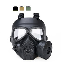 Airsoft Paintball Shooting Face Protection Gear Full Face Tactical PC Lens Masque de Paintball avec Air Filtration Fan