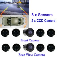 Wholesale Parking Assist Sensors - New Dual Channel Video Car Parking Sensors Reverse Radar System 8 Sensor with Front & Rear view Camera For Parking Assist