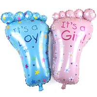 Wholesale Inflatable Girl Foot - Large Feet Foot Aluminum Foil balloon It is a boy girl Birthday Party Decoration Baby Shower Mylar Ballons Children Inflatable Toys Gift