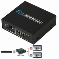 Wholesale Input Splitter - Wholesale- 1x2 HDMI Switch Splitter Box 1 Input 2 Output Ports Support 3D Full HD 1080P DVD Players for PS3 Playstation Xbox360 DVD UK Plug