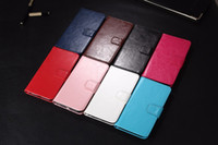 lg, bağlantı için kapağı çevirin toptan satış-LG Nexus 5X Için 50 adet Hakiki Deri Kılıf Klasik Cüzdan Stil Çevirme Cep Telefonu Çantası Kapak Kılıf Aksesuar Google Nexus 5x Nexus5X