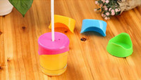 Wholesale cup inserts - Creative silicone cup lid Can insert straw Seal dustproof leakproof glass cover Security environmental protection silicone lid