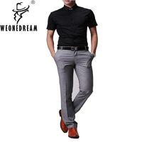 Wholesale Western Casual Suits - Wholesale- 2017 New Spring Summer Western-style Man trousers Men's Dress Trouser Men slim suit pants male skinny casual Dress Pants 33