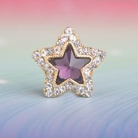 Wholesale- Star Jewelry Unisex Magnet Brooch 6 couleurs Big Rhinestones Shirt Collar Clip Vêtements Accessoire Starfish Broches Badge Hijab Pin