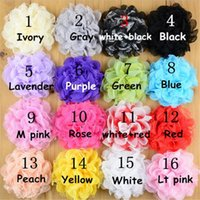 Wholesale Silk Mesh Puff - Baby Hair Accessories Flower Lovely Baby Girl Hair Clip Accessories Mini Petite Satin Mesh Silk Flowers Tulle Puff Hair Flower Clip DHL