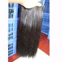 insan saçı sarışın karışım uzantısı toptan satış-100 İnsan Saç Atkı Brezilyalı Düz Paket Saç Uzantıları # 1B Siyah # 2 # 8 Kahverengi # 613 Sarışın Mix Uzunlukları Brezilyalı Saç Örgü 12