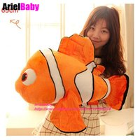 Wholesale Clownfish Figure - New Finding Nemo Clownfish Plush Toys Stuffed Animals Baby Dolls Kids Birthday Gift 25-65cm Party Decoration Collection
