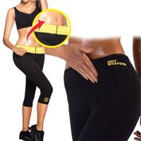 Wholesale Training Corsets Wholesale - Hot Shapers Sports Pants Women Neoprene Slimming Pants Body Shaper Waist Training Corsets Slimming Shapers Shorts Free Shipping 129