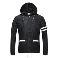 Wholesale flower black jacket - Italy Luxury Brand medusa 3D print jackets Long Sleeve hooded jacket Men's Casual windbreaker jackets snake printing men clothing M -3X