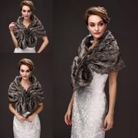 Wholesale Brown Faux Fur Shawl - Elegant Faux Fur Bridal Wraps Brown Color Wedding Bridal Wrap Women Shawl For Special Occasion Wedding Shawl Free Size for Winter