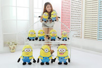 Wholesale Despicable Minion Plush 3d - Despicable ME Movie Plush Toy 18cm Minion Jorge Stewart Dave Minions 3D eyes plush toys with tags free shipping