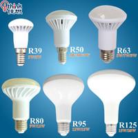 Wholesale E27 R63 - NEW R39 R50 R63 R80 led light E14 E27 led lamp 3W 5W 7W 9W ac 220v 230v 12W 15W 20W R80 R95 R125 led bulbs warm cold white light