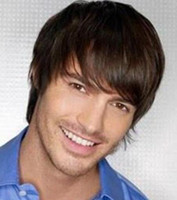 Wholesale Quality Wigs For Men - Virile Short Brown Black Toupee Straight Wig For Men Really Hair Piece peruca Cosplay indian remy silk bulk high quality blond closure Wigs