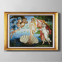 Wholesale counted kits resale online - The Birth of Venus Gracious style Cross Stitch Needlework Sets Embroidery kits paintings counted printed on canvas DMC CT CT