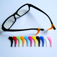 Wholesale Eyeglass Tips - Comfortable Silicone Anti-slip Holder for Glasses Removable Silicone Ear Hook Eyeglass Temple Tip High Quality 11 Colors