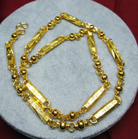 Wholesale thick gold chain wholesale online - sales K Gold thick Luxury gold plated necklace Carved Star Party Necklace Jewelry for men